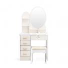 Fésülködőasztal tükörrel és székkel