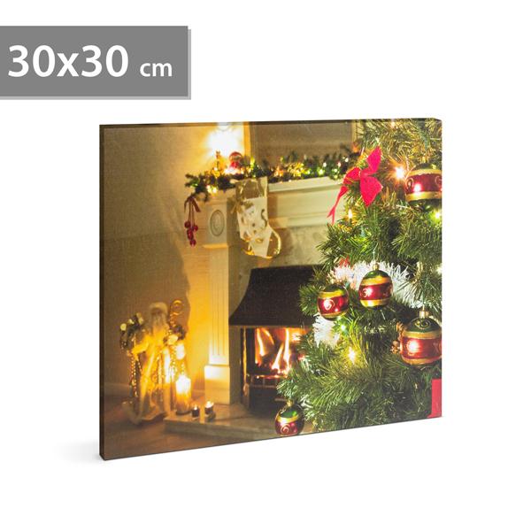 Karácsonyi LED-es hangulatkép-Fadísz