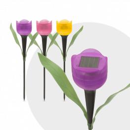 LED-es szolár tulipánlámpa szett