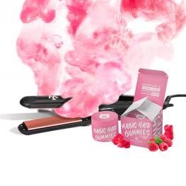 Magic Hair csomagajánlat: Steaming Iron hajvasaló+Hair Gummies hajvitamin
