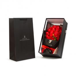 Rózsabox - 18 db piros rózsával