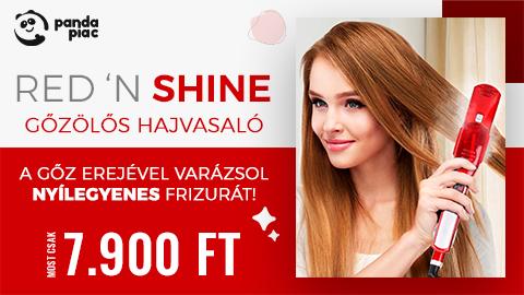 Red 'N Shine – Gőzölős hajvasaló