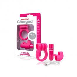 ScreamingO Combo – Ujjvibrátor és péniszgyűrű
