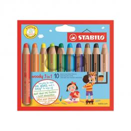 Stabilo Woody 3 az 1-ben színes ceruza készlet