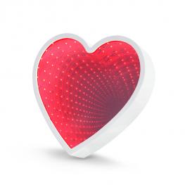 Szív alakú LED varázstükör