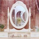 Tükrös fésülködőasztal székkel
