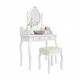 Tükrös fésülködő asztal székkel